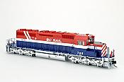 Bowser 25024 - HO GMD SD40-2 - DCC & Sound - BC Rail (RWB Hockey Stick) #767