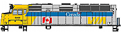 Walthers Mainline 19469 HO Scale - EMD F40PH, ESU Sound and DCC - VIA Rail Canada Scheme #6402