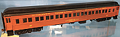 Atlas Model Railroad Co. HO Scale 20004970 Heavyweight Paired-Window Coach - Ready to Run - Master(R) Toronto, Hamilton & Buffalo 89 (maroon, black) 150-20004970