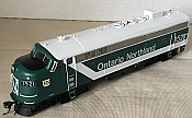 Rapido Trains 222028 - HO GMD FP7 - DC/Silent - Ontario Northland (Progressive) #1521