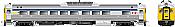 Rapido 16154 HO RDC 1 - DC/Silent- VIA Rail (Blue Stripe)(Phase ll) #6148