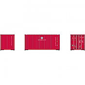 Athearn 28877 - HO RTR 20Ft Corrugated Container - MAGU 3 Pack