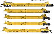 WalthersMainline 55637 HO - Thrall 5-Unit Rebuilt 40 Ft Well Car - Ready to Run - Santa Fe Leasing SFLC #1033 A-E
