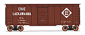Intermountain 45813-05 HO Scale - 10Ft 6In Modified 1937 AAR Boxcar - Erie Lackawanna #74888