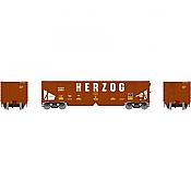 Athearn 14270 HO RTR 40ft OB Ballast Hopper/Load Herzog No.9864