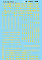 Microscale 90036 HO Scale - Alphabets - Condensed Roman - Yellow - Waterslide Decal