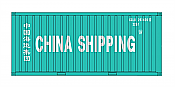 Intermountain HO 30051-3 A-Line, 20' Corrugated Containers with Corrugated Doors, China Shipping CCLU #s 292687, 321553