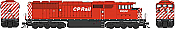 Bowser 24996 - HO GMD SD40-2f -CP Rail (Round Porthole, White Stripe) DCC and Sound  #9010