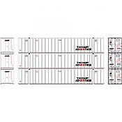Athearn RTR 72781 - HO 53ft Stoughton Container - DART (3pk)