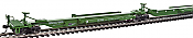 WalthersMainline 5253 HO 263' Five-Unit All-Purpose 48' Spine Car - Ready to Run Burlington Northern #637500