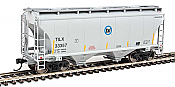 Walthers Mainline 7552 - HO 39ft Trinity 3281 2-Bay Covered Hopper - Trinity Industries Leasing/TILX #33433
