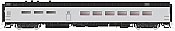 Rapido Trains 124060 HO Scale Pullman-Standard Lightweight Diner Undecorated 41 BNO 11 TrucksPre Order