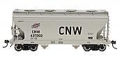 Intermountain Railway 46542 HO ACF Center Flow 2 Bay Hopper - Chicago & North Western - Block Lettering #437291