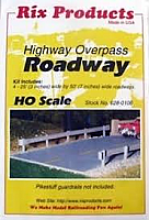 Rix Products HO 106 Highway Overpass Roadway Kit