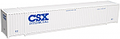 Atlas Model Railroad HO 2000299^ Jindo 53' Cargo Container 3-Pack - Master Line - CSX Intermodal (CSXU) Set #4