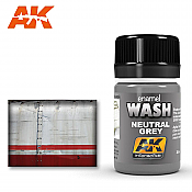 AK Interactive 677 Neutral Grey Wash Enamel Paint 35ml