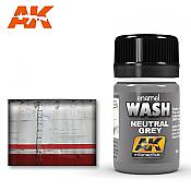 AK Interactive 677 Neutral Grey Wash Enamel Paint 35ml