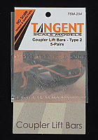 Tangent Scale Models 204 HO Scale - Coupler Lift Bars – Shallower Drop Angle – 5 Pairs