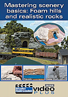 Kalmbach Publishing Co. 15301 - Mastering Scenery Basics DVD - Foam Hills & Realistic Rocks - 1hr 21min