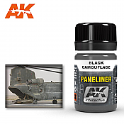 AK Interactive 2075 Air Series Paneliner Black Camouflage Enamel Paint 35ml