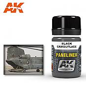 AK Interactive 2075 Air Series Paneliner Black Camouflage Enamel Paint 35ml