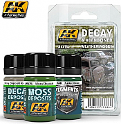 AK Interactive 4180 - Decay & Abandoned Weathering Paint Set