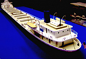 Sylvan Scale Models 1050M HO Scale - Mid Section Extension for Great Lakes Freighter Kit - Unpainted and Resin Cast
