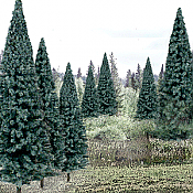 Woodland Scenics 1588 HO Evergreen Tree Value Pack - Ready Made Trees - Blue Spruce