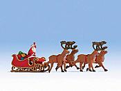 Noch 15924 - HO Santa Claus w/ Sleigh and 4 Reindeer