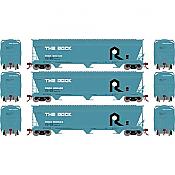 Athearn Genesis G15826 - HO ACF 4600 3-Bay Centerflow Hopper - The Rock (3 pkg)