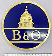 Stoddarts Ltd. B&O - 3D Railroad Wall Artwork - B&O Logo