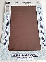 Microscale TF-24 - Trim Film - Box Car Red - FS 10076 4½ in x 7½ inch sheet - Waterslide Decal