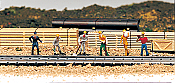 Bachmann Industries 42341 HO Railroad Personnel - Train Work Crew pkg(6)