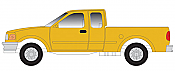 Atlas HO 60000106 1997 Ford F-150 Pickup Truck - Maintenance-of-Way - Yellow