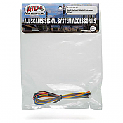 Atlas Model Railroad Co. 70000051 Signal Attachment Cable - All Scales Signal System Dual 4-pin harness DIY set 150-70000051
