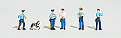 Woodland Scenics 1822 - HO Scenic Accent Figures - Policemen (5 Officers, 1 Police Dog)