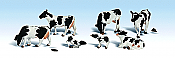 Woodland Scenics 1863 - HO Scenic Accents(R) - Animal Figurines - Holstein Cows (11/pkg)