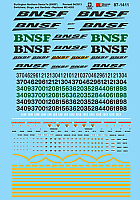 Microscale Railroad Decal Set BNSF Remotes, Slug, Switchers & GenSets Diesel Locomotives