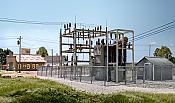 Woodland Scenics 2253 - N Utility System - Substation - Built-up