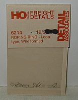 Detail Associates 6214 HO Scale - Roping Ring, Formed Wire - pkg(12)