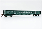 Rapido Trains 50041-E HO - 52 Ft 6 In Mill Gondola (Single Car) - Ontario Northland (Progressive) #5077