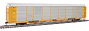 WalthersProto 101340 HO - 89ft Thrall Bi-Level Auto Carrier - Ready To Run - Milwaukee Road Rack, TTGX Flatcar #910260