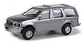 Walthers SceneMaster 12043 HO - Ford Expedition Special Service Vehicle - Unmarked Unit (silver)