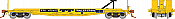 Rapido 138010-6 HO - F30G 50Ft TOFC Flat Car: TTX Yellow #475215