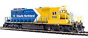 Broadway Limited 6789 - HO EMD SD40-2 - Paragon4 Sound/DC/DCC - Ontario Northland (Blue & Yellow Arrow) #1734