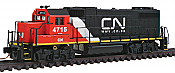 "Walthers N Scale 50304 EMD GP38-2 with 88"" Low Nose, Canadian National #4715 (DCC Ready)"