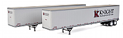 Walthers SceneMaster 2464 - HO 53ft Stoughton Trailer - Knight Transportation (2/pk)