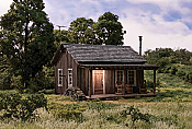 Woodland Scenics 5065 HO Built-&-Ready Landmark Assembled Structures Rustic Cabin