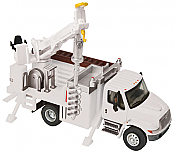 Walthers 11733 HO SceneMaster International(R) 4300 Utility Truck w/Drill - Assembled - White