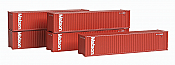 Deluxe Innovations 505081 N Scale 40 Ft Dual Logo Panel Corrugated Container 5-Pack - Matson